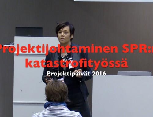 Projektijohtaminen SPR:n katastrofityössä