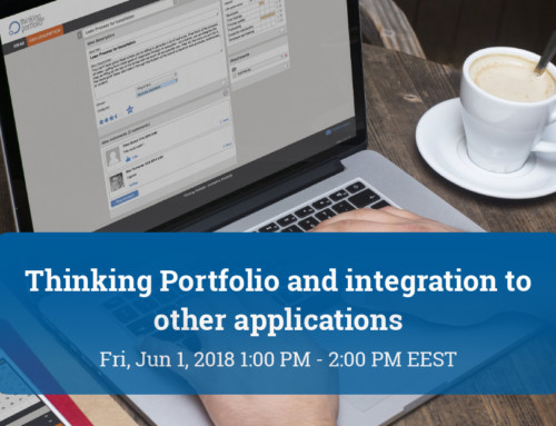 Webinar: Thinking Portfolio and integration to other applications