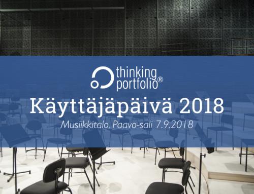 Thinking Portfolio Käyttäjäpäivä 2018 – ilmoittaudu mukaan!