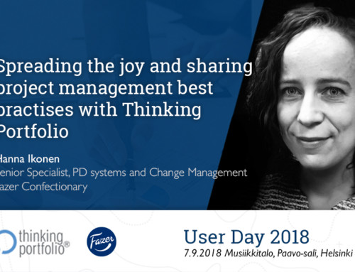 Thinking Portfolio User Day 2018 Webinar: Presentation by Hanna Ikonen (Fazer Confectionary) 🗓