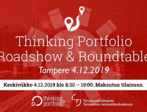 Thinking Portfolio – Intohimona salkunhallinta Roadshow & Roundtable, Tampere 4.12.
