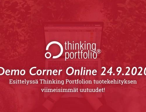 Thinking Portfolio Demo Corner Online 24.9.2020