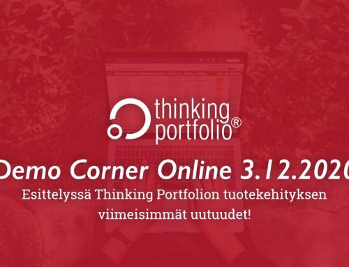 Thinking Portfolio Demo Corner Online 3.12.2020